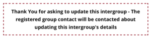 Image of Update an Intergroup Message